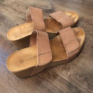 Lola Sabbia Eric Michael Cork Wedge Sandals